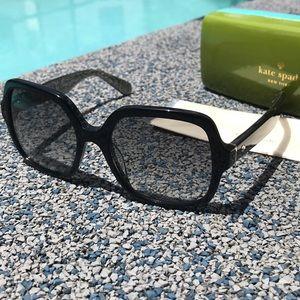 NWT Kate Spade Oversized Black Glitter Sunglasses